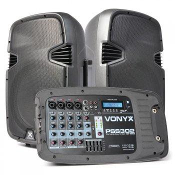 Skytec Vexus PSS-302 aktivní přenosný systém 300W - 3 roky záruka, Ušetřete ihned 3% při registraci
