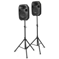 "Vonyx Party Speaker Set, 2x 12"", 2x stojan"