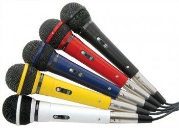 Sada mikrofonů XLR, 5 barev - 3 roky záruka