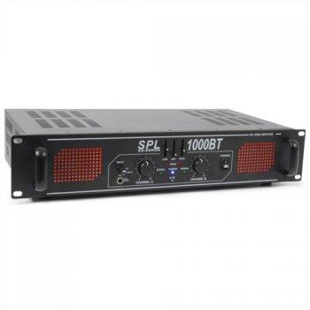 Skytec SPL 1000BT Amplifier Red LED+EQ Black - 3 roky záruka