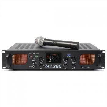 Skytec SPL-300, výkonový zesilovač, VHF mikrofon, MP3, FM - 3 roky záruka