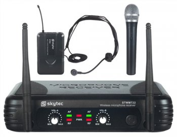 Skytec STWM722C micro UHF 2ch combi div.