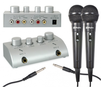 Skytec karaoke set se 2 mikrofony - 3 roky záruka