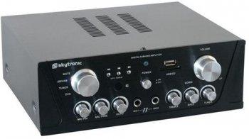 Skytec karaoke zesilovač USB / SD, černý - 3 roky záruka