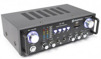 Skytronic Karaoke HiFi zesilovač AV-100 s MP3 - 3 roky záruka, Ušetřete ihned 3% při registraci
