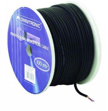 Mikrofonní kabel, 2 x 0,22 qmm, stíněný, černý - 3 roky záruka